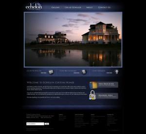 Best Website for a Builder:  Echelon Custom Homes,