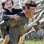 Wes and Carson in the Quest Fitness Mud Run