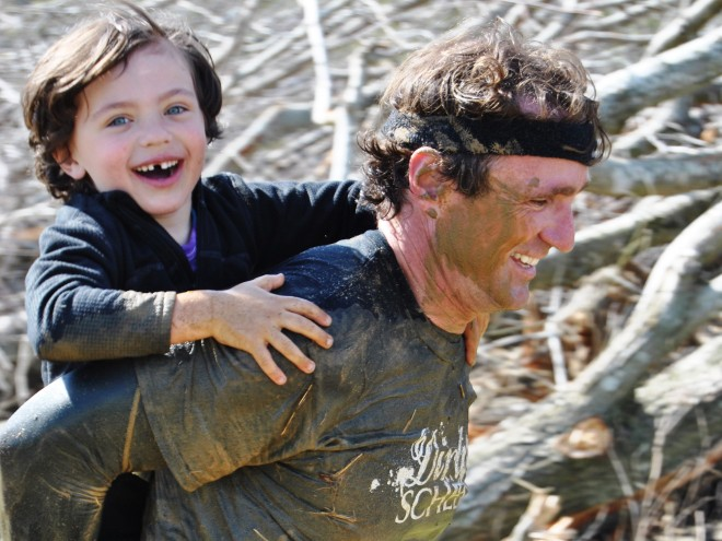 Wes and Carson at Mud Run