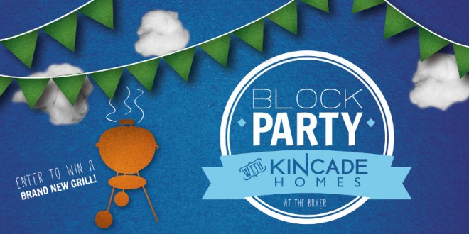 Win a grill at the Kincade Homes Block Party