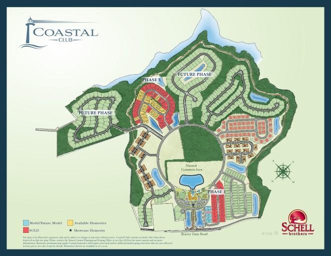 Coastal Club Sitemap