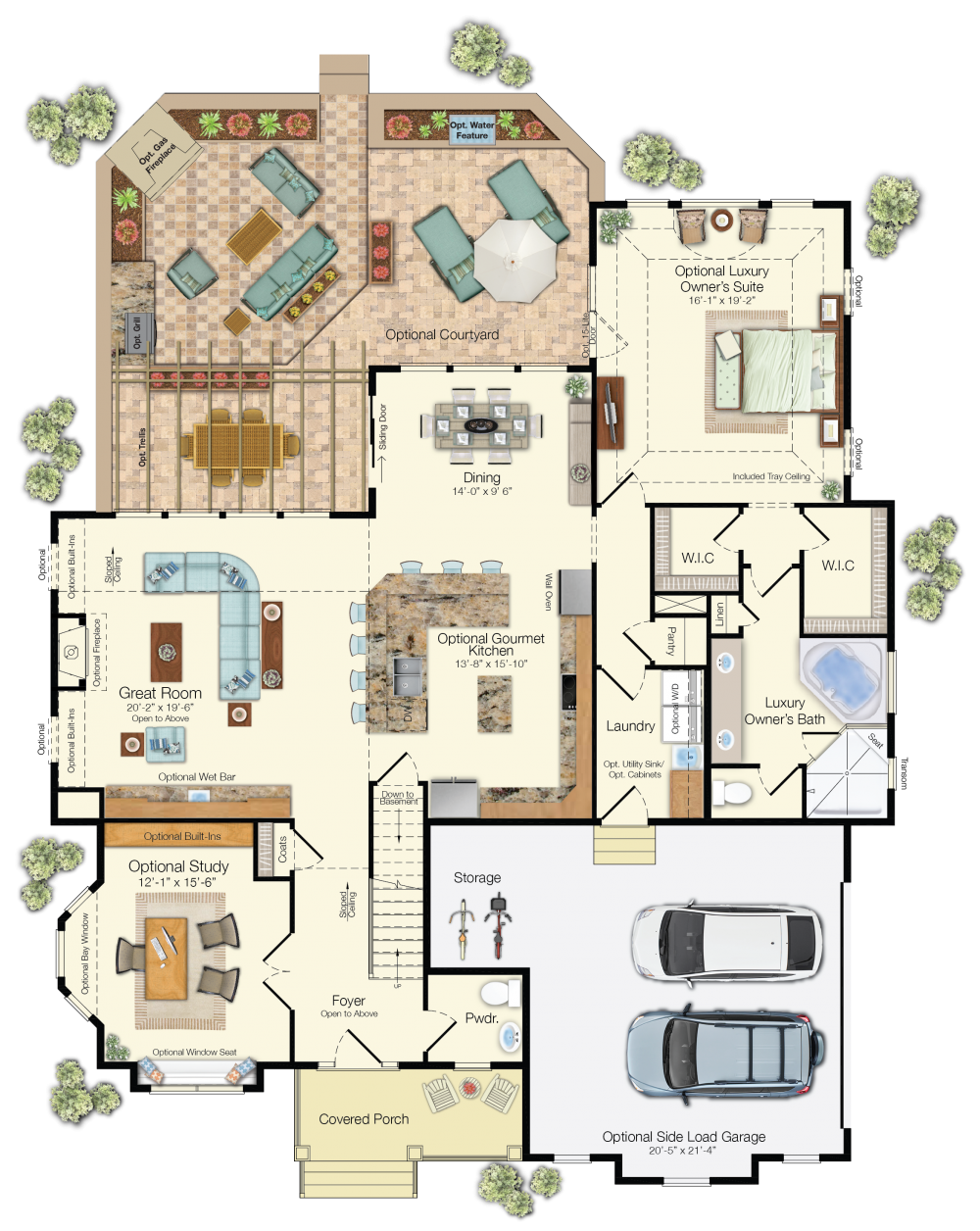 The Kingfisher Floor Plan Schell Brothers