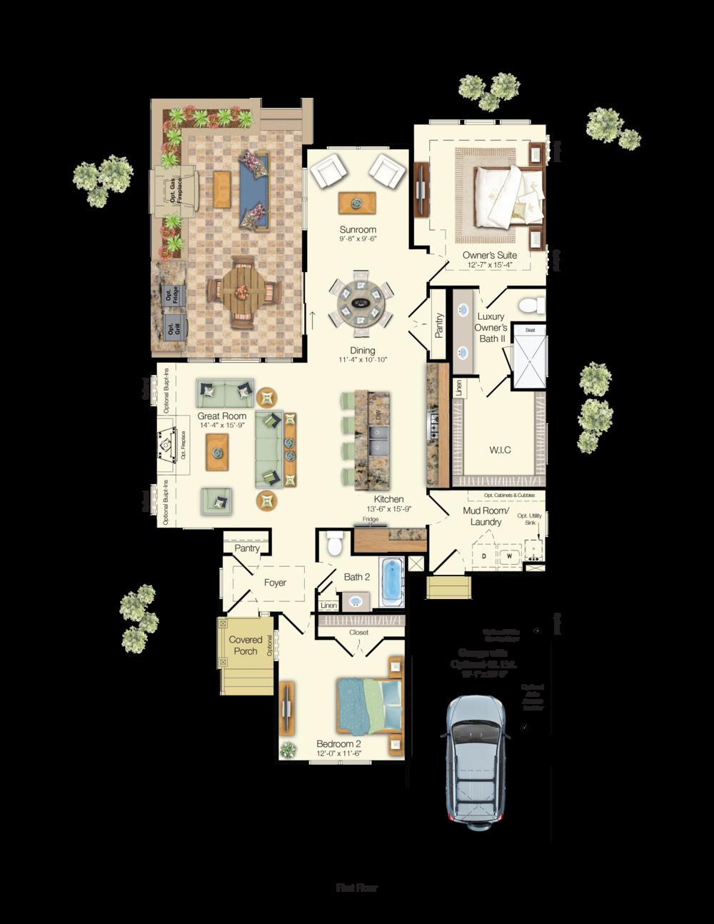 The Azalea Floor Plan Schell Brothers