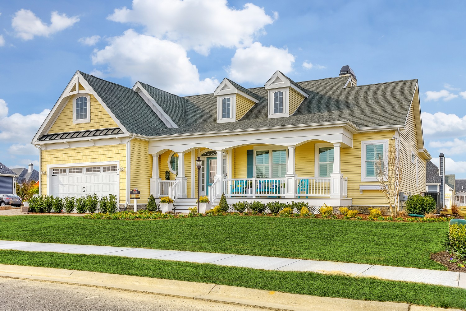 The mayberry model home coastal club schell brothers for Houses in houston with basements