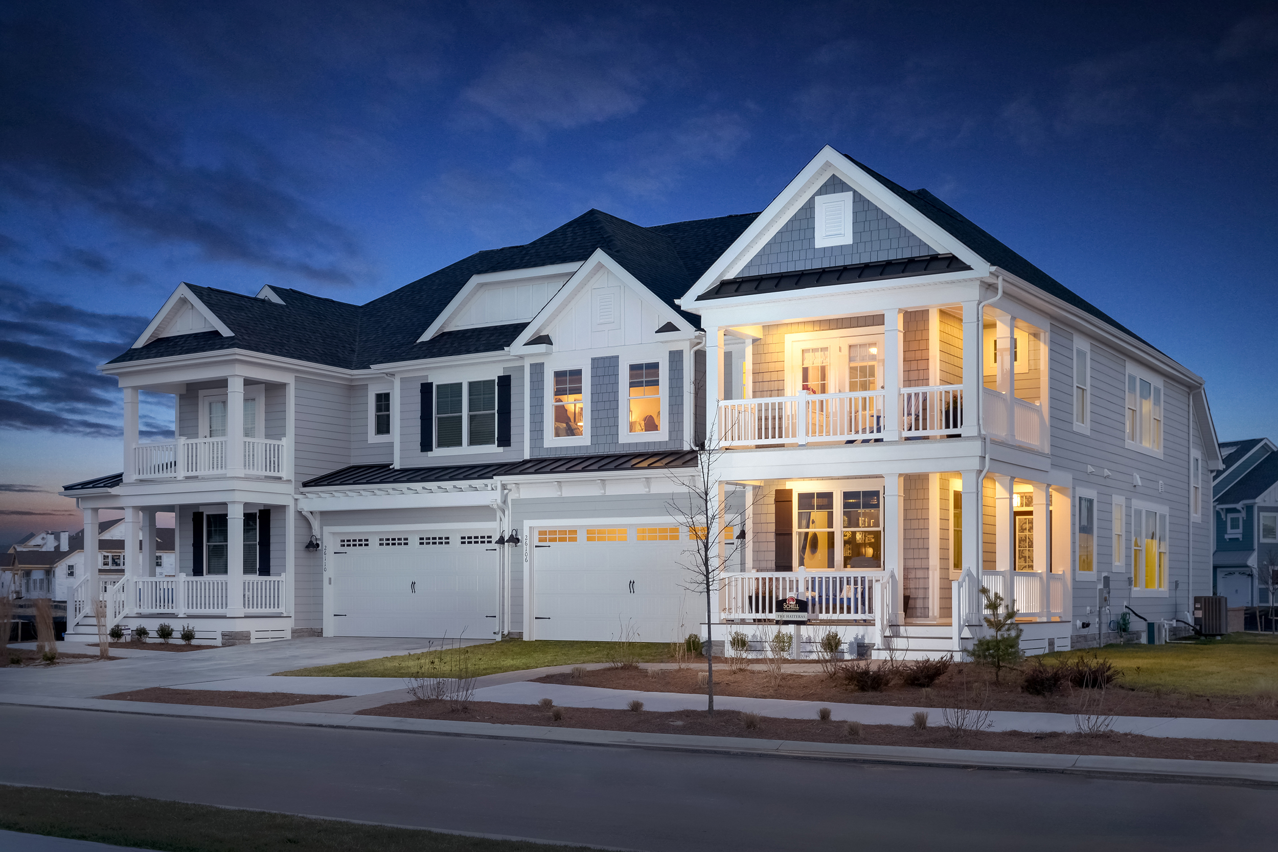 The Hatteras Model Home Bayside Schell Brothers